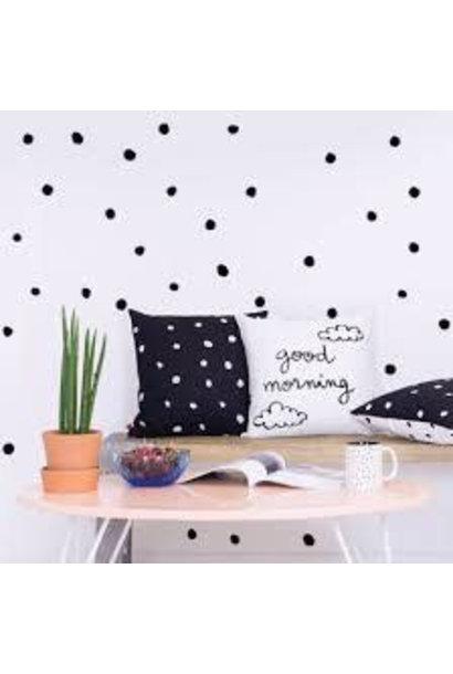 Chispum - polka dots wall sticker small - black