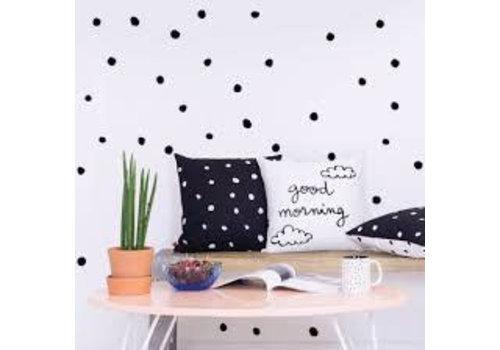 Chispum - polka dots muursticker klein - zwart
