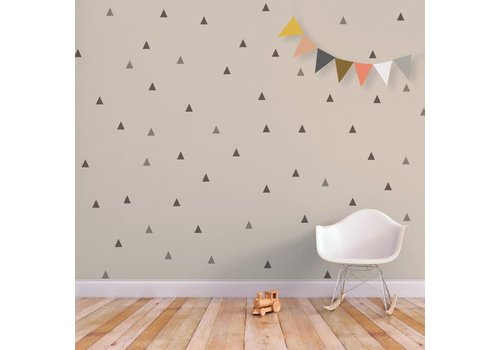 Chispum - triangles wall sticker small - green