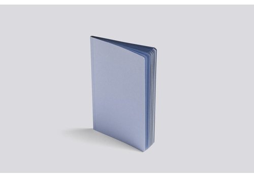 HAY Edge Notebook - Pigeon / silver edges