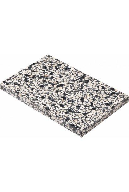 Confetti board black & ivory