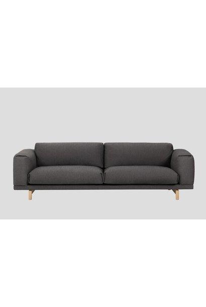 REST sofa : 3-seater - Vancouver 13 - onderstel Eik naturel