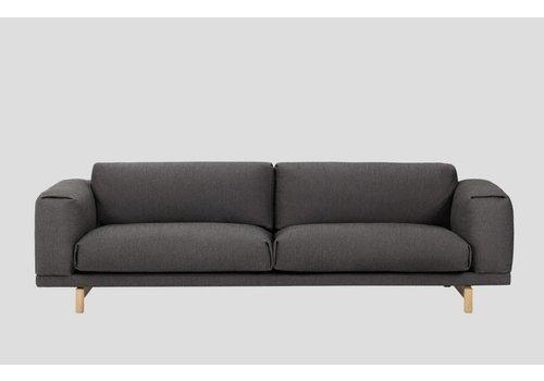 MUUTO REST sofa : 3-seater - Vancouver 13 - onderstel Eik naturel