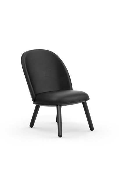 Ace Lounge Chair Leather Black