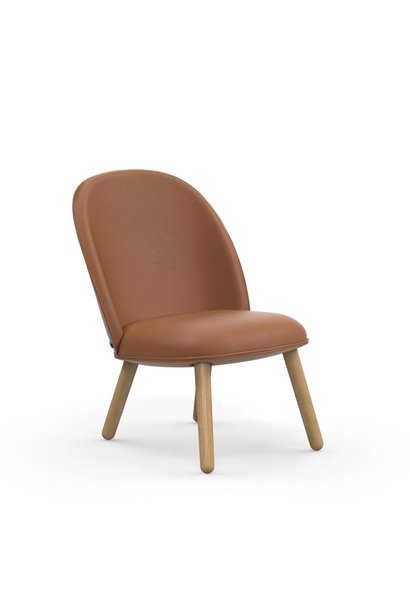 Ace Lounge Chair Leather Brandy