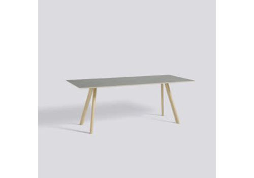 HAY CPH30 table - 250x90 - oak matt lacquer - matt lacquer plywood edge - grey lino tabletop