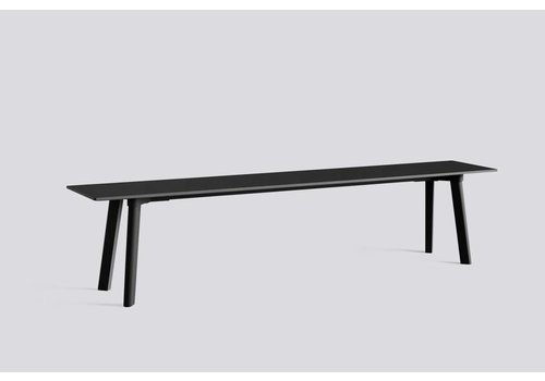 HAY CPH deux 215 Bench - L75xW35xH45 - ink black plywood edge - ink black laminate tabletop