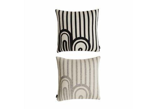 Ayo Cushion - Grey / White & White / Black