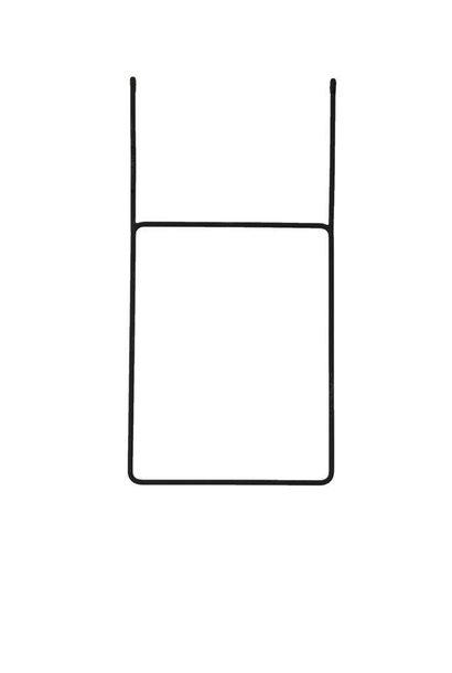 Clothing rail vertical black 45x80