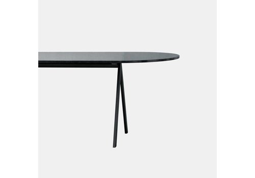 Friends & Founders Saw Dining table 300x100 - Black frame - Black solid ash top