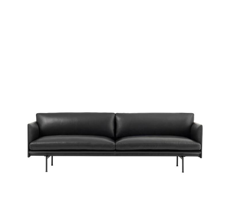 Outline 3 seater - Black legs -
