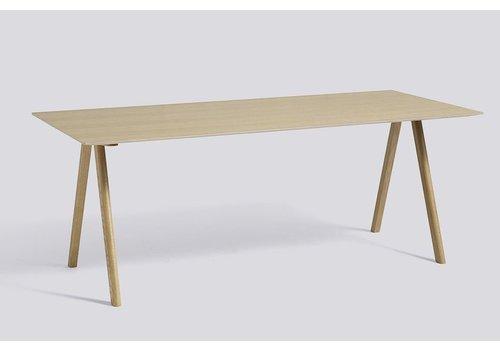 HAY Copy of Copenhague Desk CPH10, Oak lacquered base - lami white - 160x80