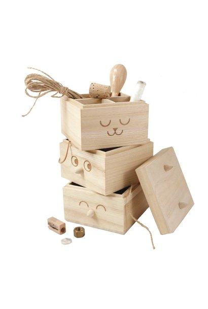 Totem box - wood