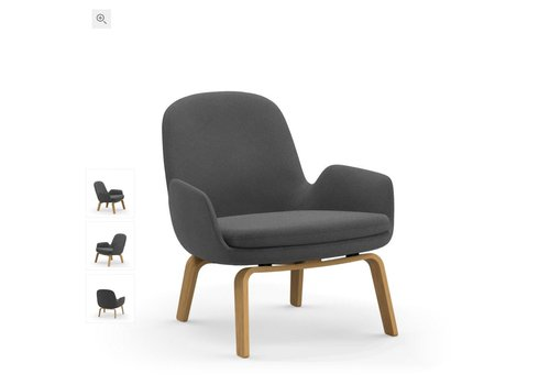 Normann Copenhagen Era lounge chair low - wood base - fame hybrid 1201