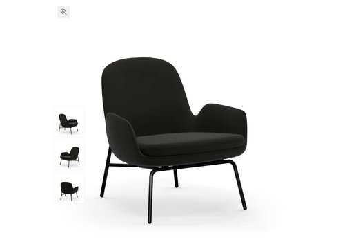 Normann Copenhagen Era lounge chair low - steel base - fame 61134
