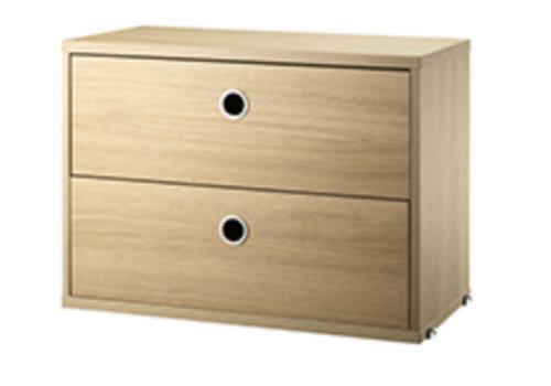String String Chest / 2 drawers - oak - 58 x 30 cm