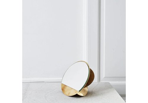 Kristina Dam Studio Mirror Sculpture Brass
