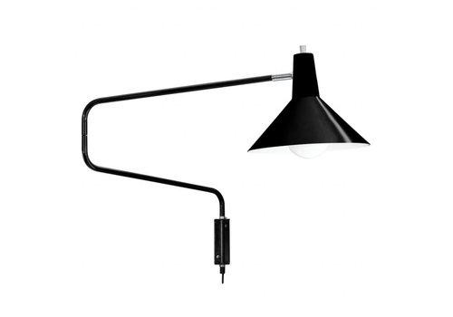 De Paperclip - wandlamp - gitzwart - Satin̩