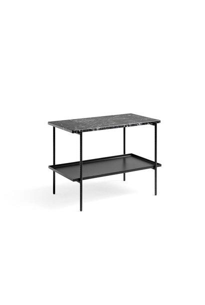 Rebar rectangle black marble two shelfs