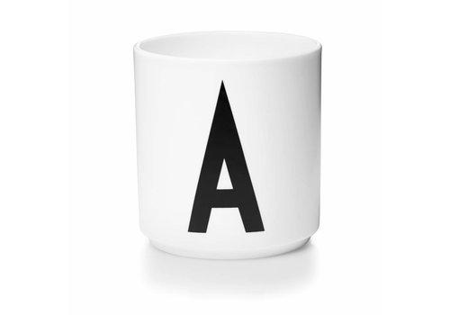 Design Letters Personal porcelain cup white (A-Z)