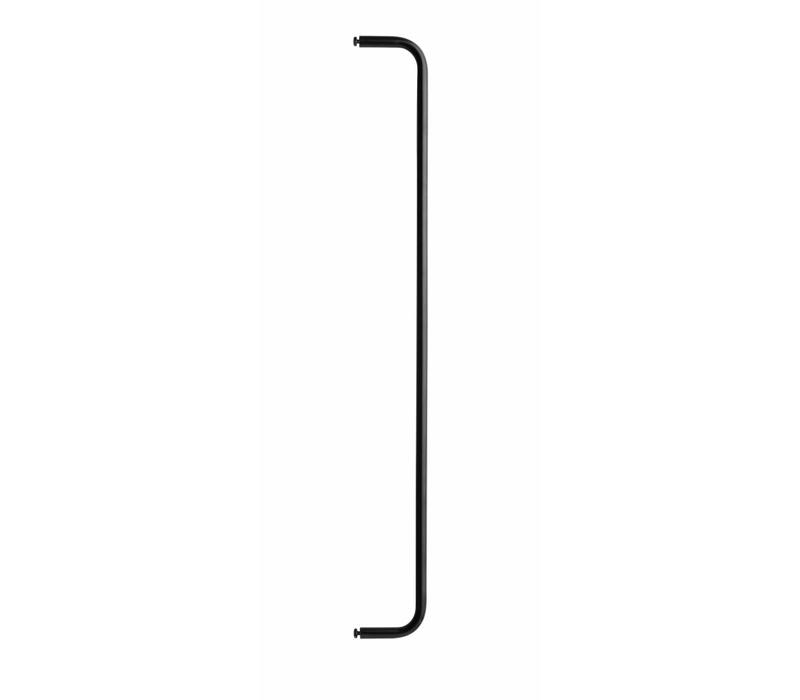 String Stangen Voor Metalen Wandplank 78 Cm Zwart