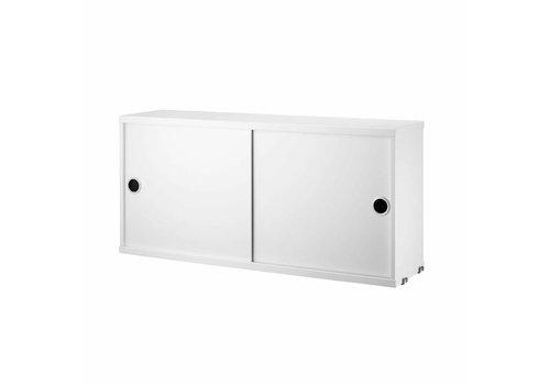 String String : cabinet + sliding doors -  78x30x45 cm - white
