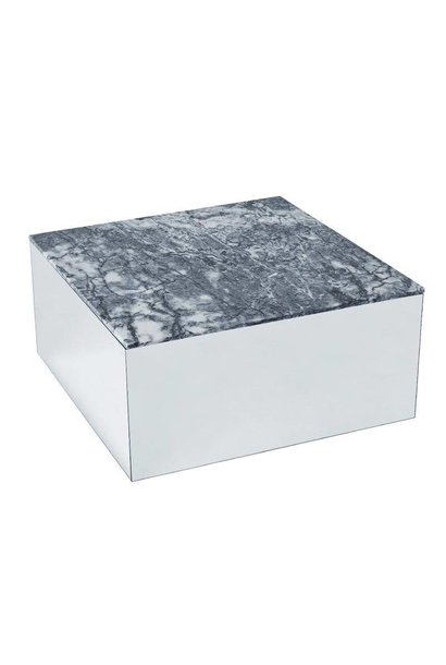 Mirror table - Gray Tiger Skin Marmer