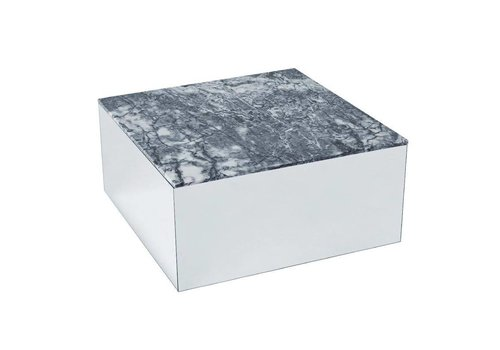 Kristina Dam Studio Mirror table - Gray Tiger Skin Marmer