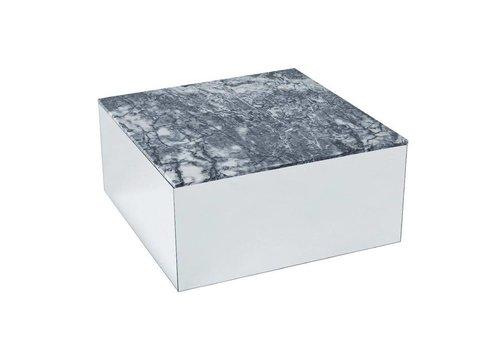Kristina Dam Studio Mirror table Large - Grey Tiger Skin Marble