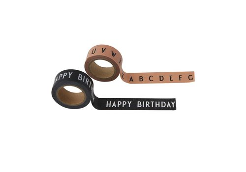Design Letters Say it with tape ABC - Nude / Happy Birthday