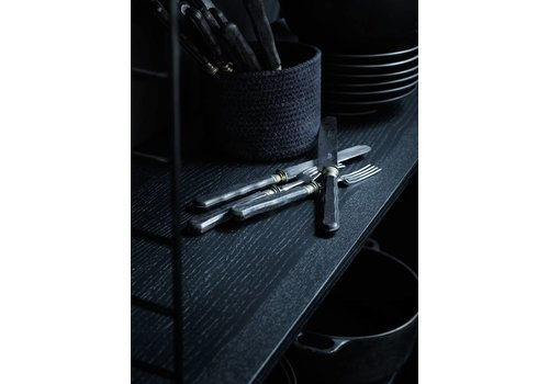 String String wandplanken  (78 x 30 cm) - ZWART GEBEITST ESSEN - 3 stuk