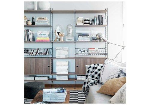 String Magazine shelf Metal (78 x 30 cm) - WHITE