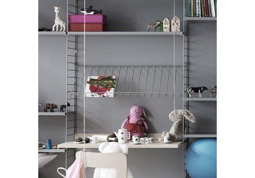 String Magazinerek Metaal (78 x 30 cm) - GRIJS