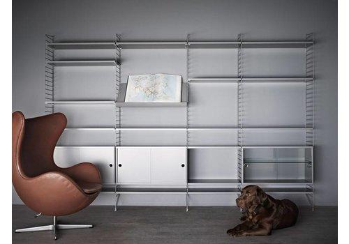 String Magazine shelf Wood (58 x 30 cm) - GREY
