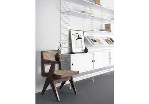 String Magazine shelf Wood (78 x 30 cm) - WHITE