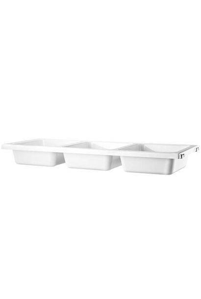 Bowl shelf white String - 1 pack
