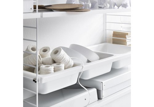 String Bowl shelf storage box - (78 x 30 cm) - WHITE