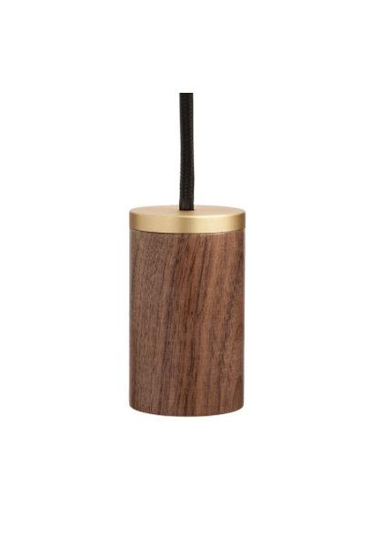 Knuckle Pendant Wood/Brass