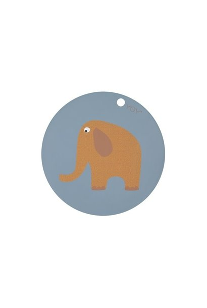 Placemat - Kids - Elephant - Round