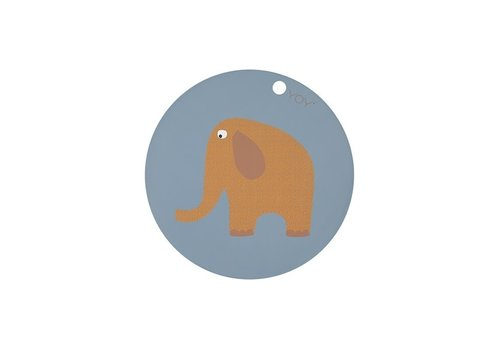 OYOY Placemat - Kids - Elephant - Round