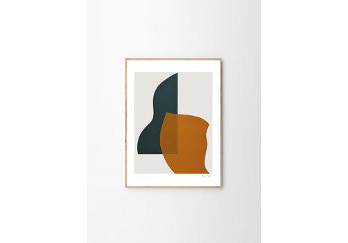 The Poster Club Overlap - Berit Mogensen Lopez - 50x70cm - frame natural solid oak