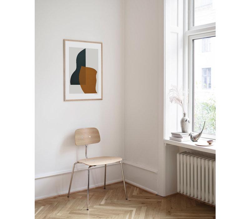 Overlap - Berit Mogensen Lopez - 50x70cm - frame natural solid oak