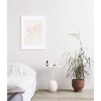 Golden Field - Silke Bonde - 50x70cm - frame wit massief eiken
