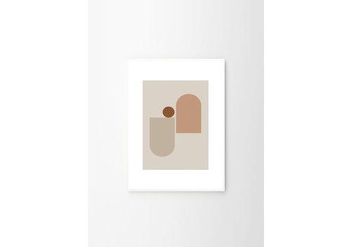 The Poster Club New form 2 - Riikka Kantinkoski - A2 (42x59,4 cm) - frame white solid oak