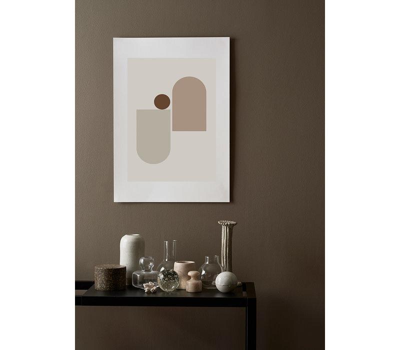 New form 2 - Riikka Kantinkoski - A2 (42x59,4 cm) - frame white solid oak