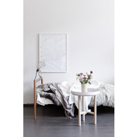 Leaf lines Green - Silke Bonde - 50x70cm - frame white solid oak