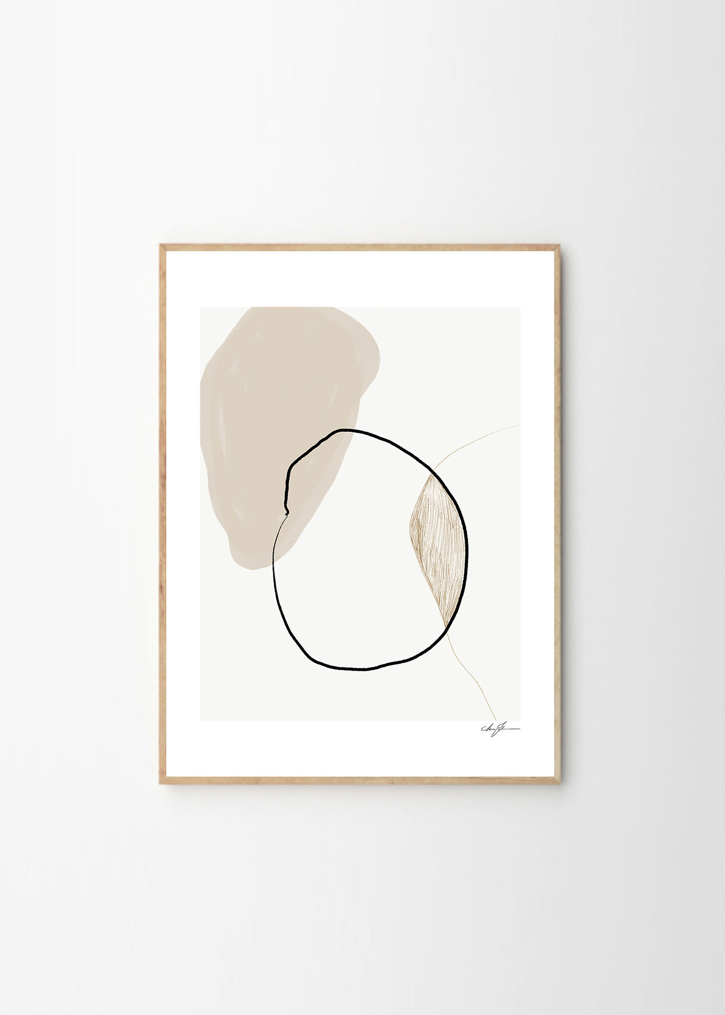 Pairs - Anna Johansson - 30x40cm - frame black solid oak-1