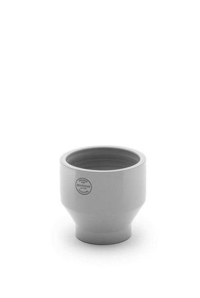 Edge pot Glazed terracotta Light grey