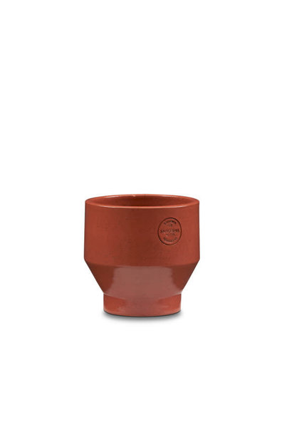 Edge pot Glazed terracotta