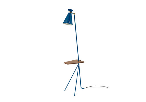 Warm Nordic Cone Floor Lamp with table